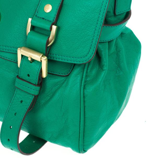 Mulberry Green Panel Alexa Leather Satchel