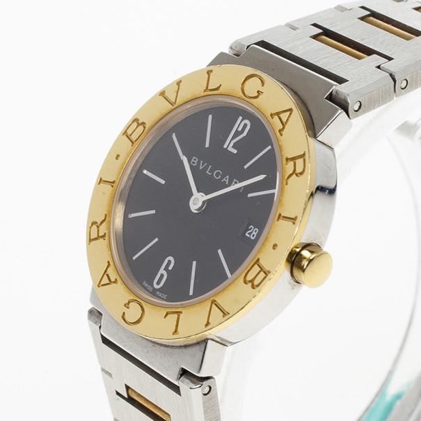 Bvlgari 18 K Yellow Gold SS Womens Wristwatch 26 MM