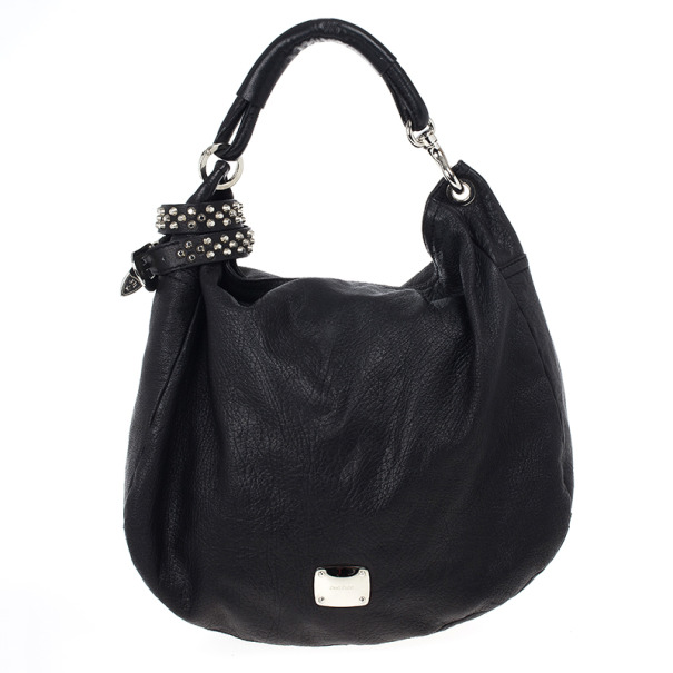 bb8e1bbf8b53 Black Leather Sky Studded Belt Hobo Bag. nextprev. prevnext