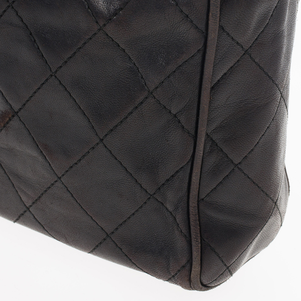 Chanel Black Quilted Camera Messenger Bag
