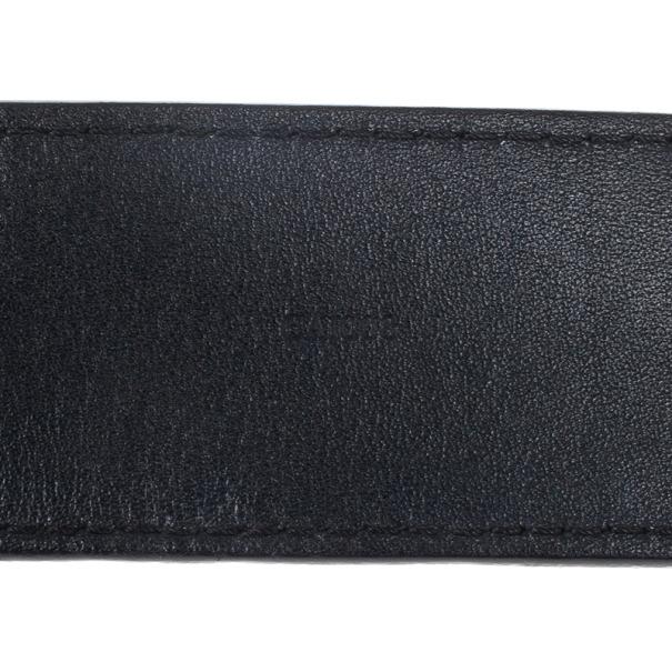 Louis Vuitton Black Leather 1904 Belt 90CM