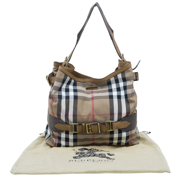 Burberry Brown House Check Prorsum Vintage Tote