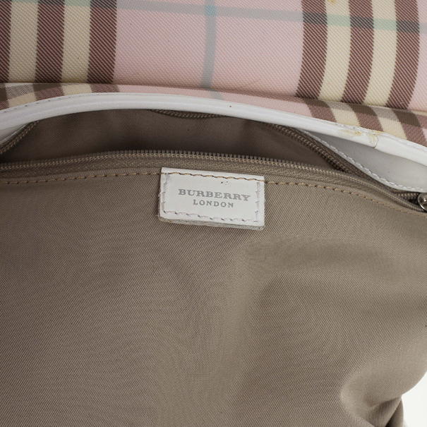 Burberry Nova Check Candy Small Boston Satchel Handbag