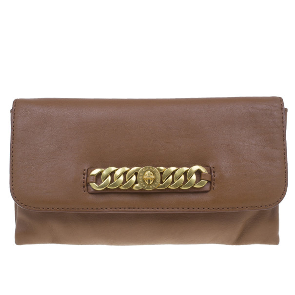 Marc by Marc Jacobs Brown Leather Katie Clutch
