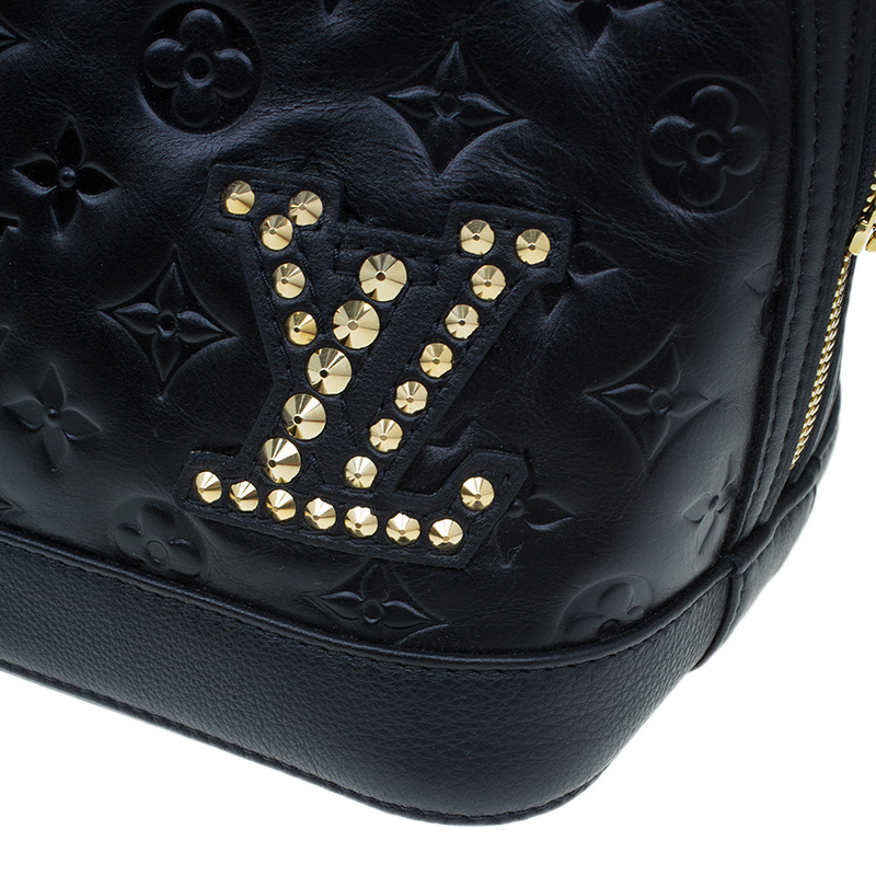 Louis Vuitton Black Monogram Leather Double Jeu Neo Alma Bag
