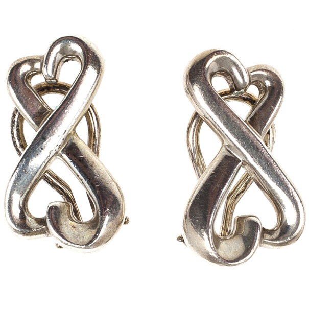 Tiffany & Co. Paloma Picasso Double Loving Heart Silver Earrings