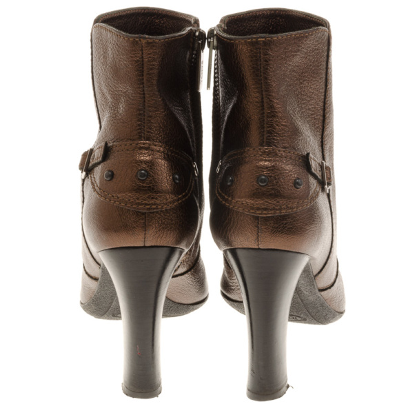 Tod's Bronze Ankle Boots Size 38