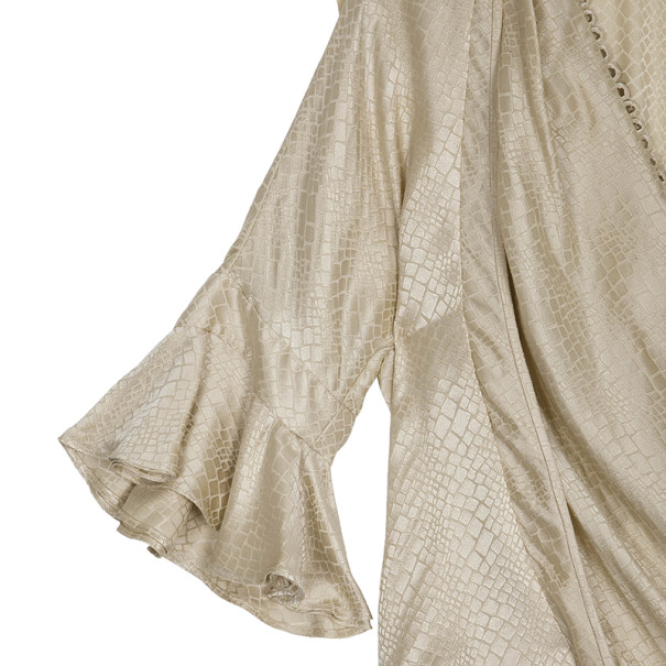 Balenciaga Silk Side Draped Dress S
