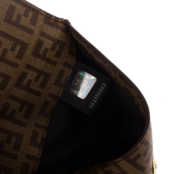 Fendi Brown Zucchino Spalmati 'Forever' Continental Wallet