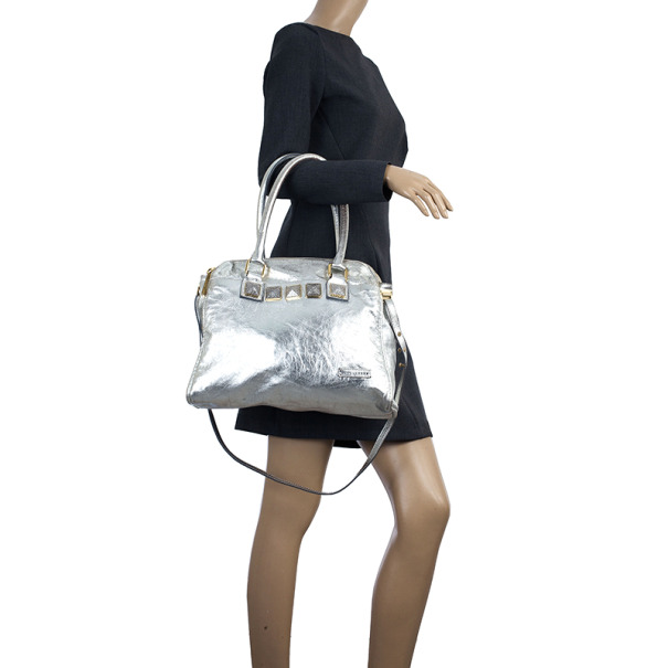 Marc Jacobs Eve Metallic Leather Shopper