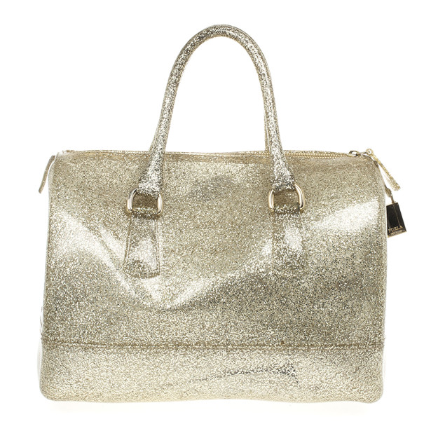 Buy Furla Gold Glitter Candy Rubber Satchel 19458 At Best Price Tlc
