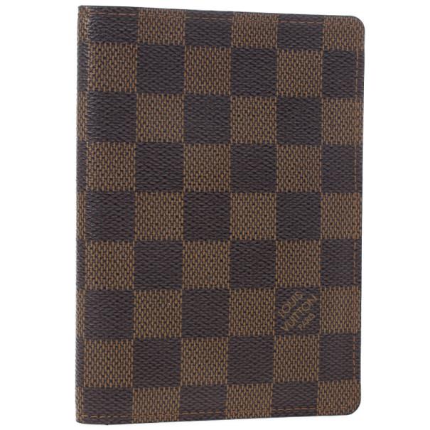 Louis Vuitton Damier Ebene Canvas Passport Cover