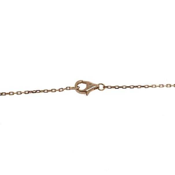 Cartier 18 K Three Tone Gold Trinity Heart Diamond Pendant Necklace