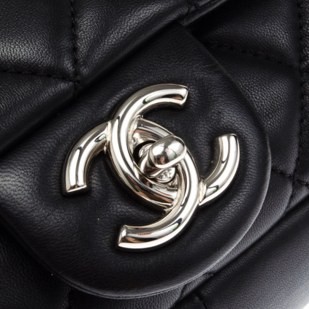 Chanel Black Lambskin Quilted Coco Rain Flap Bag