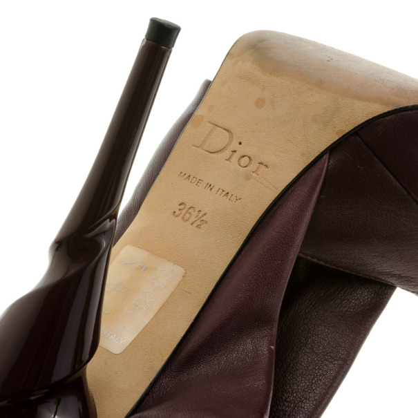 Dior Pleated Leather Slingback Sandals Size 36.5