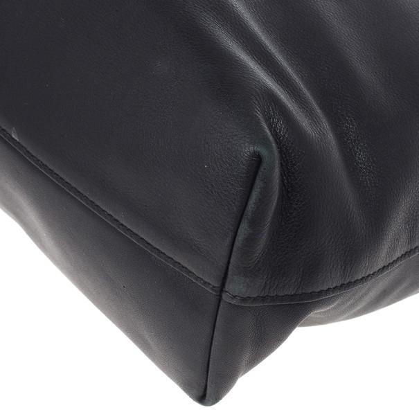 Prada Vitello Daino Black Soft Calfskin Shopping Tote