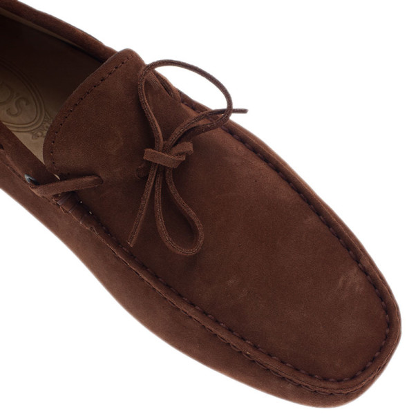 Tod's Brown Suede Bow Loafers Size 42.5