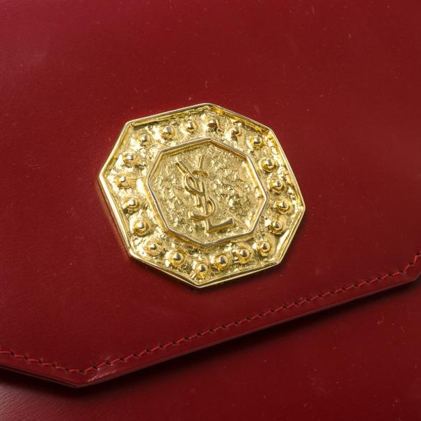 Yves Saint Laurent Red Leather Vintage Shoulder Bag