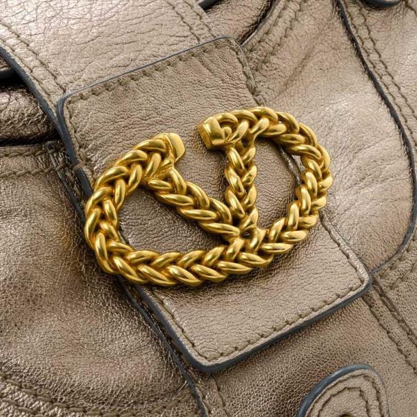 Valentino Metallic Jeweled Flap Hobo Bag