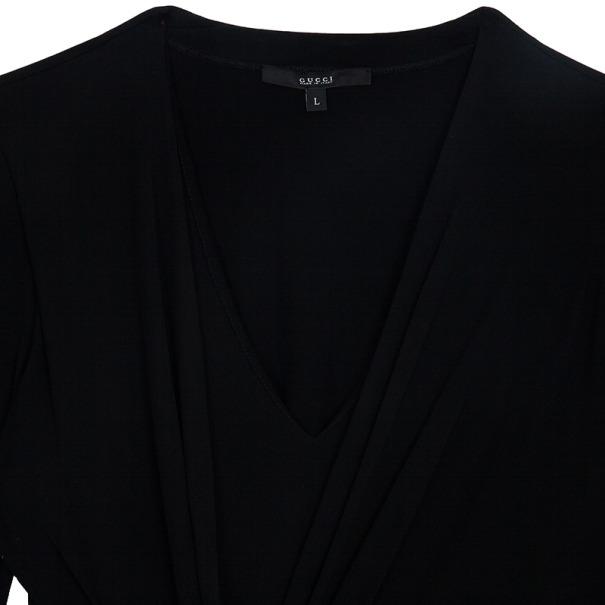 Gucci Long Sleeve Knot Dress L