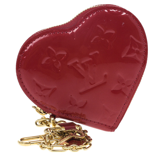 Louis Vuitton Red Pomme D´amour Vernis Heart Coin Purse