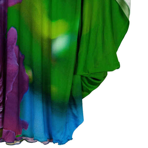 Roberto Cavalli Multicolor Silk Tunic Top S