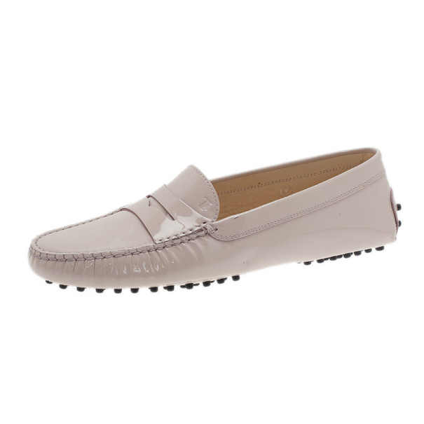 Tod's Blush Patent Penny Loafers Size 39.5