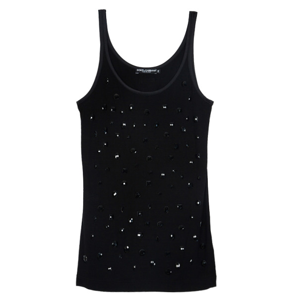 Dolce and Gabbana Embellished Tank Top XS