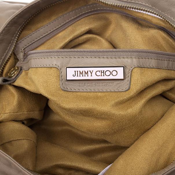 Jimmy Choo Large Leather Sky Bangle Hobo