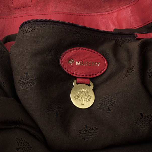 Mulberry Pink Panel Alexa Leather Satchel