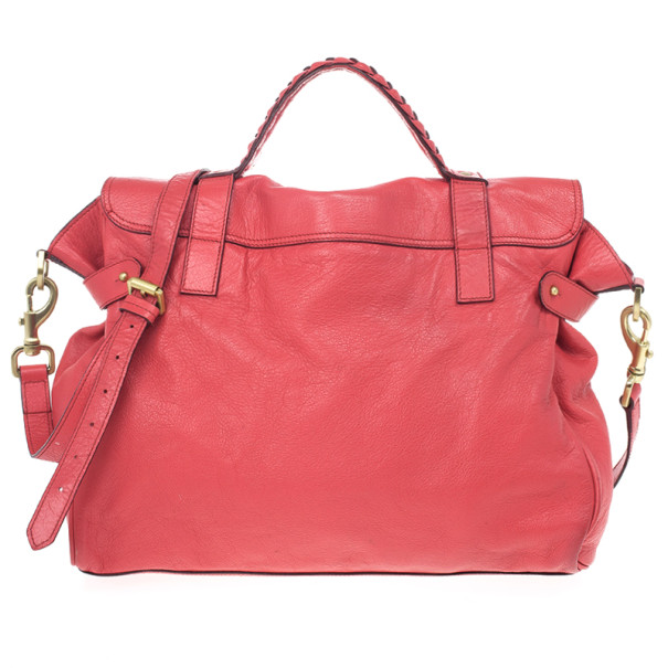 Mulberry Pink Panel Alexa Leather Satchel