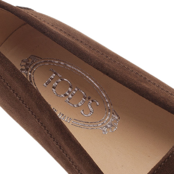 Tod's Brown Suede Penny Loafers Size 38.5