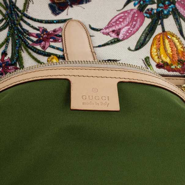 Gucci Limited Edition Jackie O Bouvier Botanical Floral Beaded/Embroidered Hobo Bag