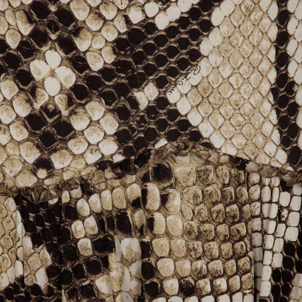 Roberto Cavalli Snake Print Skirt Set XS
