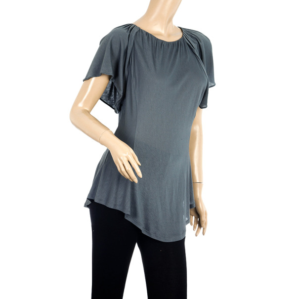 Fendi Butterfly Sleeve Jersey Top S