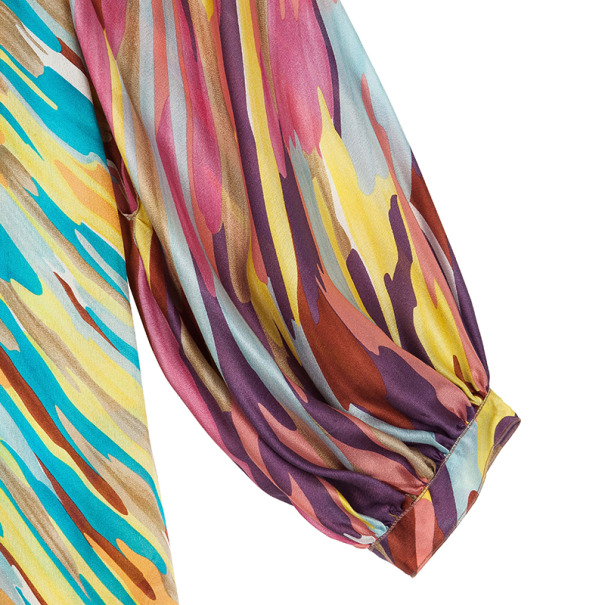 Missoni Collar Tie Silk Top S