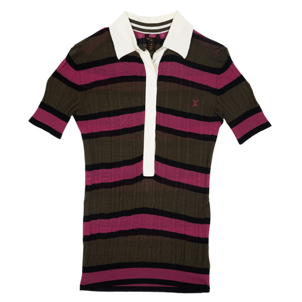 Louis Vuitton Striped Polo Top S