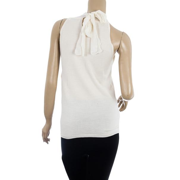 Dior Halterneck Embellished Top M
