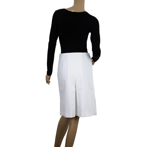 Prada Single Box Pleat Skirt S