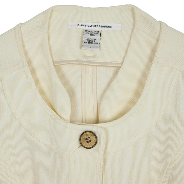Diane Von Furstenberg Travis Short Sleeve Jacket S