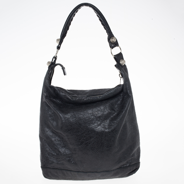 Balenciaga Black Lambskin Giant Day