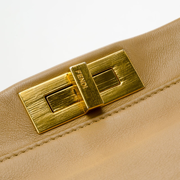 Fendi Denim-Lined Peekaboo Tote