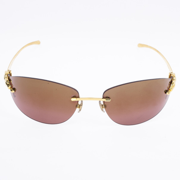 Cartier Panthere De Cartier Rimless Woman Sunglasses