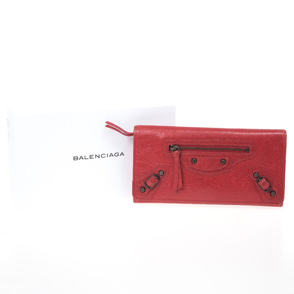 Balenciaga Rouge Cardinal City Classic Money Wallet