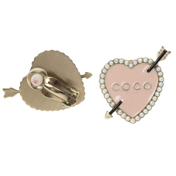 Chanel Coco Heart and Arrow Earrings