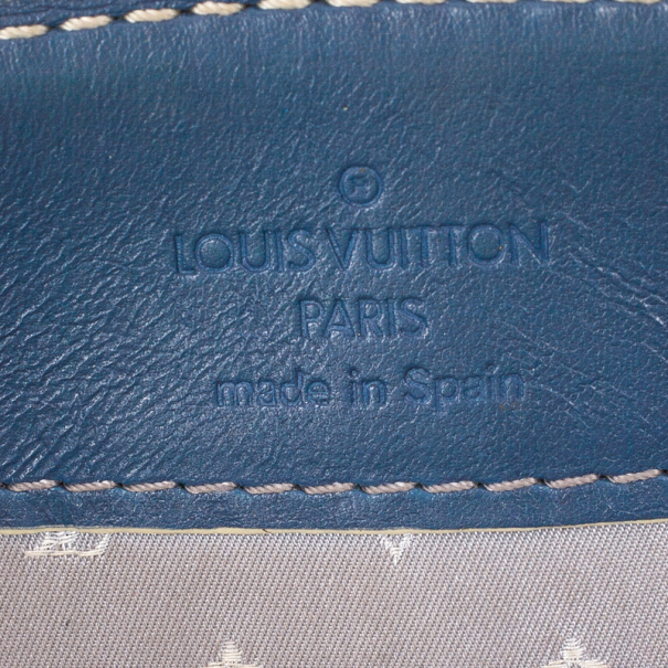 Louis Vuitton Blue Suhali Leather L'Aimable Tote