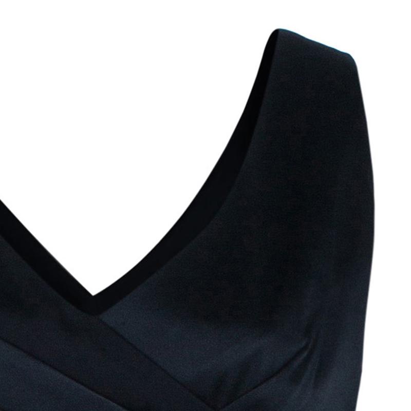 Armani Collezioni Black Sleeveless Silk Gown L