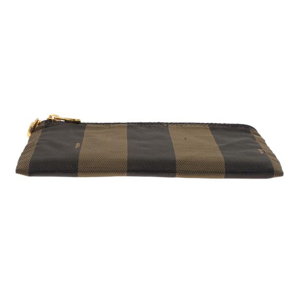 Fendi Brown Pequin Stripe Pouch