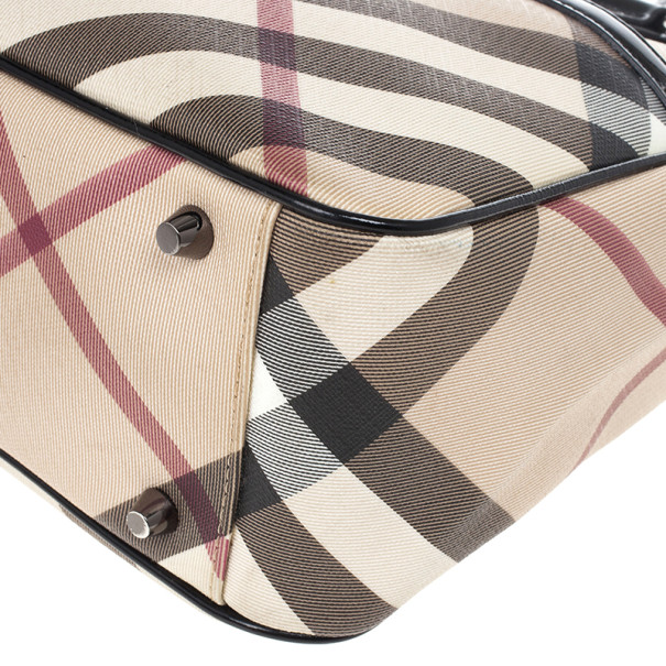 Burberry Nova Check Front Pocket Tote