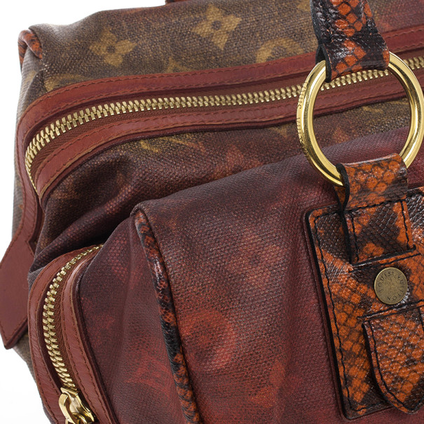 Louis Vuitton Limited Edition Richard Prince Red Monogram Mancrazy Jokes Bag